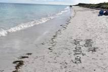 the beach and my message